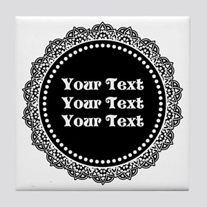CUSTOM TEXT Gothic Round Tile Coaster