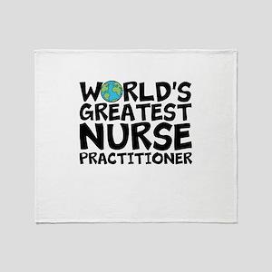 World's Greatest Nurse Practitioner Throw Blan