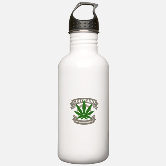 Colorado Weed Sports Water Bottle