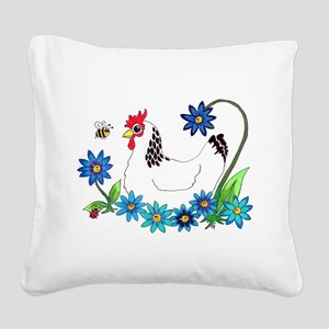 SPRING IS IN THE AIR Square Canvas Pillow