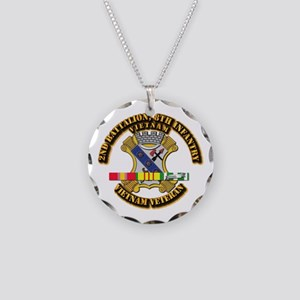 2nd Battalion, 8th Infantry Necklace Circle Charm
