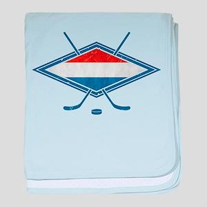 Nederlandse Ijshockey Flag baby blanket