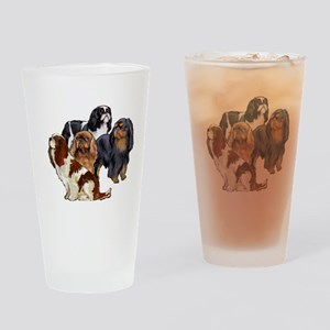 toy spaniel group Drinking Glass