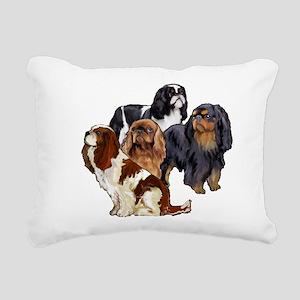 toy spaniel group Rectangular Canvas Pillow