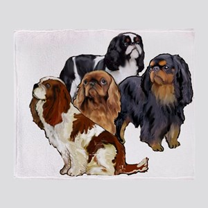 toy spaniel group Throw Blanket