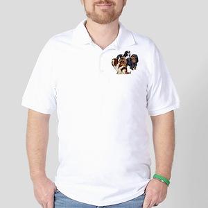 toy spaniel group Golf Shirt