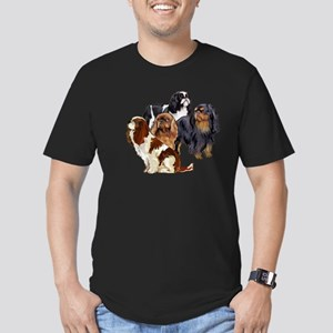 toy spaniel group Men's Fitted T-Shirt (dark)