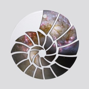 Cosmic Shell Ornament (Round)