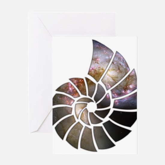 Cosmic Shell Greeting Card