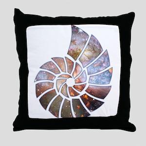 Cosmic Shell Throw Pillow