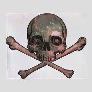 Skull and Bones - Cosmic Throw Blanket