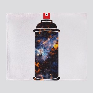 Spray Paint - Cosmic Throw Blanket