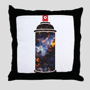 Spray Paint - Cosmic Throw Pillow