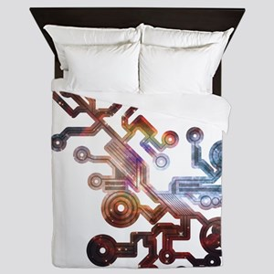 Cosmic Circuits Queen Duvet