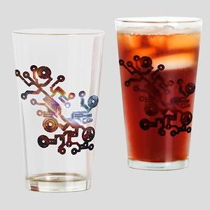 Cosmic Circuits Drinking Glass