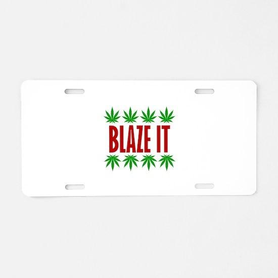 Blaze It Aluminum License Plate