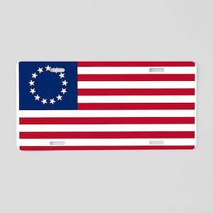 US 2nd - 13 Stars Betsy Ross Flag Aluminum License