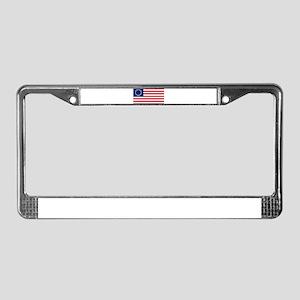 US 2nd - 13 Stars Betsy Ross Flag License Plate Fr