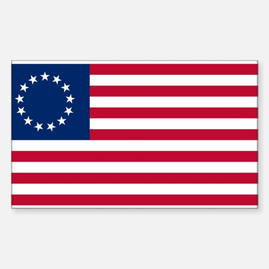 Betsy ross flag gifts merchandise betsy ross flag gift ideas us 2nd 13 stars betsy ross flag decal publicscrutiny Image collections