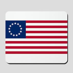 US 2nd - 13 Stars Betsy Ross Flag Mousepad