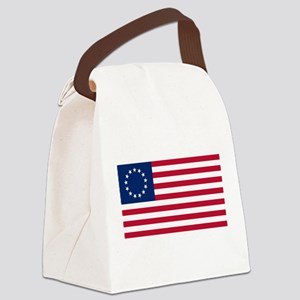 US 2nd - 13 Stars Betsy Ross Flag Canvas Lunch Bag