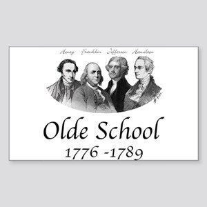 Olde School Rectangle Sticker