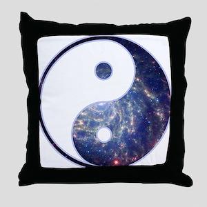 Yin Yang - Cosmic Throw Pillow
