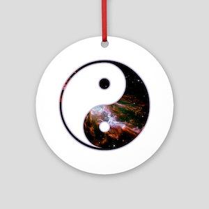 Yin Yang - Cosmic Ornament (Round)