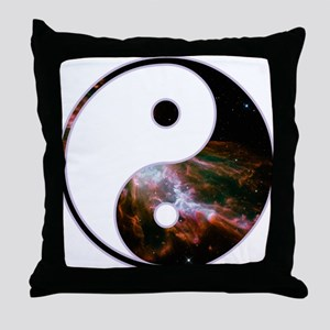 Yin Yang - Cosmic Throw Pillow