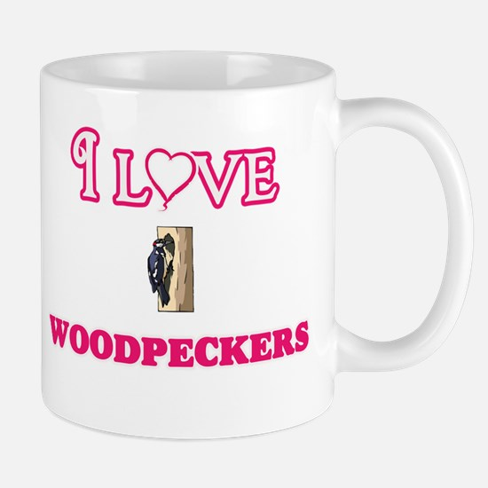 I Love Woodpeckers Mugs