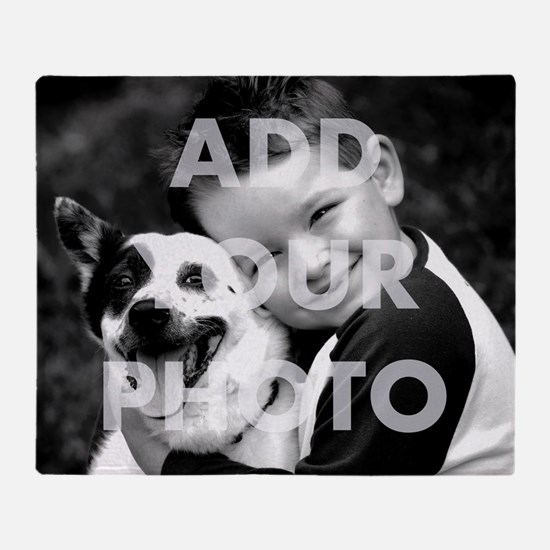 Add Your Own Photo Throw Blanket