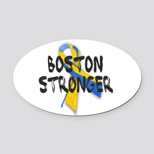 Boston Stronger Oval Car Magnet