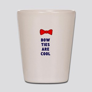 Bow ties are cool Shot Glass