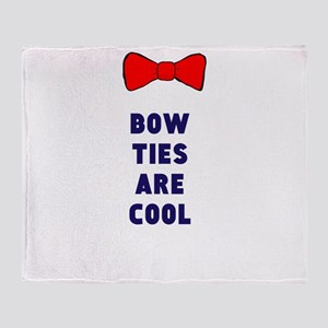 Bow ties are cool Throw Blanket