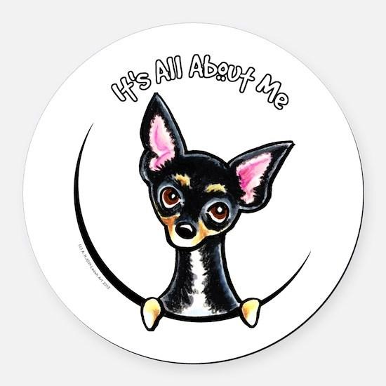 B/T Chihuahua IAAM Round Car Magnet