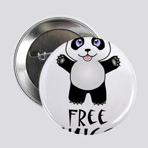 "Free Panda Hugs 2.25"" Button"