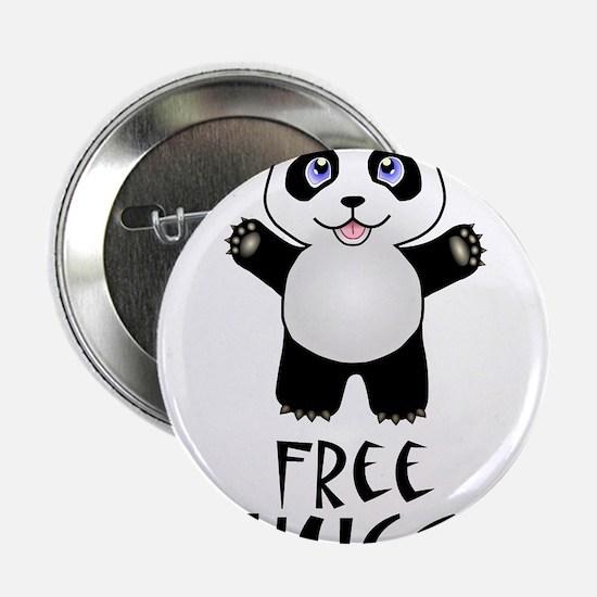 "Free Panda Hugs 2.25"" Button"