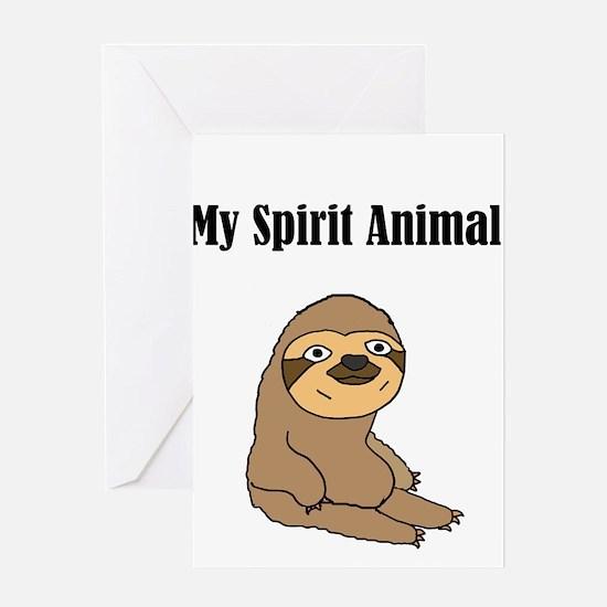 Funny Sloth Spirit Animal Greeting Cards