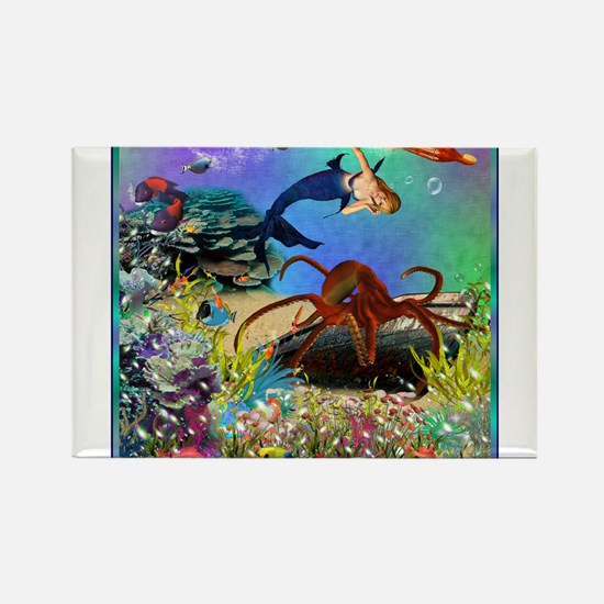 Best Seller Merrow Mermaid Rectangle Magnet