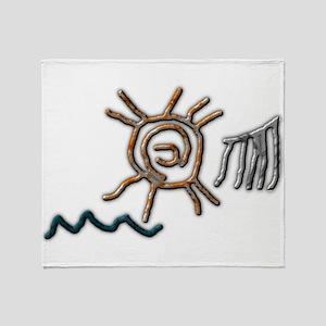 Sun Petroglyph Throw Blanket