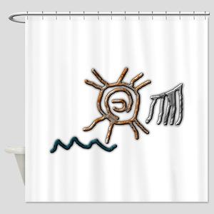 Sun Petroglyph Shower Curtain