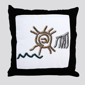 Sun Petroglyph Throw Pillow