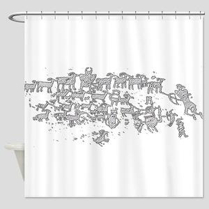 Shepherds Petroglyphs Shower Curtain