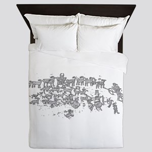 Shepherds Petroglyphs Queen Duvet