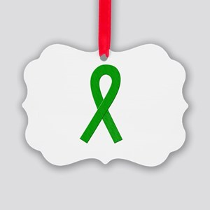 Green Awareness Ribbon Ornament