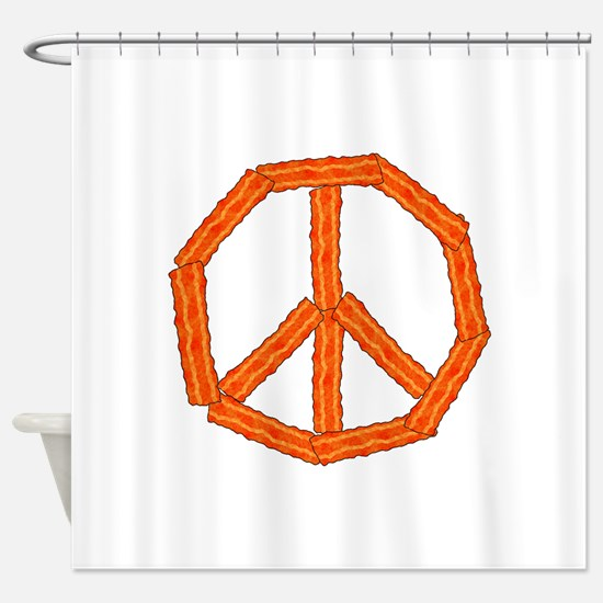 Bacon Peace Sign Shower Curtain