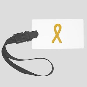 Gold Awareness Ribbon Luggage Tag