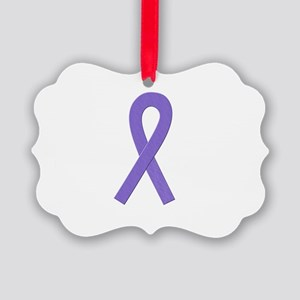 Violet Awareness Ribbon Ornament