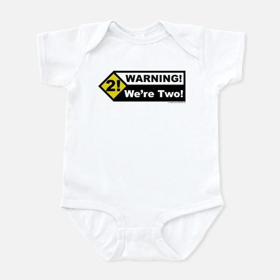 Warning! We're Two! Infant Bodysuit
