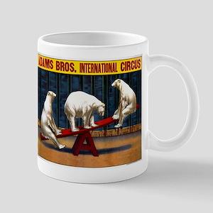 Circus, Polar Bears, Vintage Poster Mug